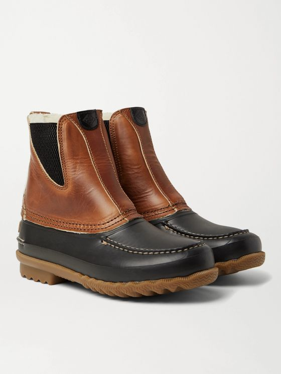QUODDY Barn Shearling-Lined Leather and EVA Boots