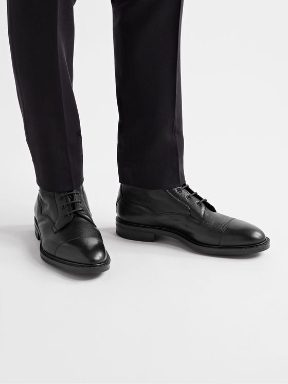 EDWARD GREEN Connemara Full-Grain Leather Boots