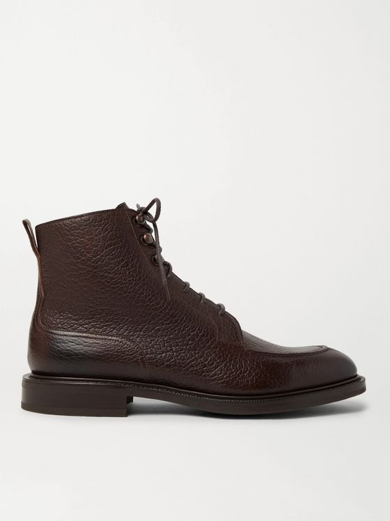 Edward Green Cranleigh Full-Grain Leather Boots
