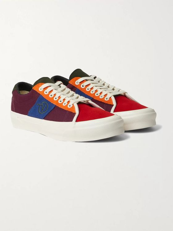 Vans Vault UA OG Sid LX Logo-Embroidered Suede and Canvas Sneakers