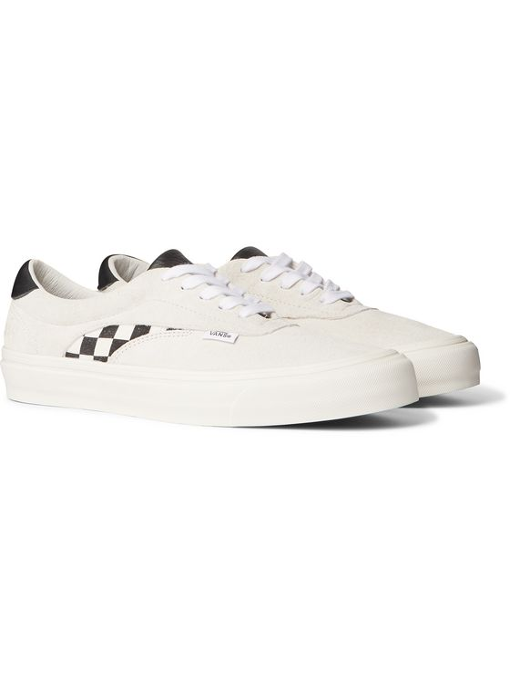 Vans Staple UA Acer NI SP Leather and Canvas-Trimmed Suede Sneakers
