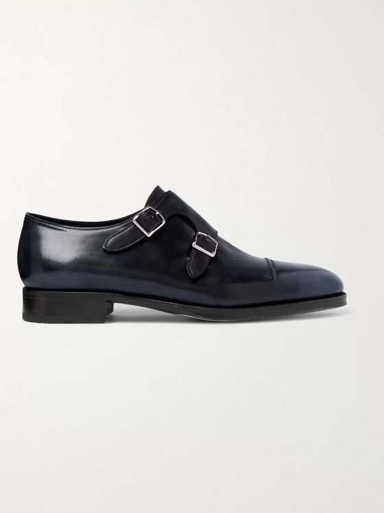 JOHN LOBB William 75 Polished-Leather Monk-Strap Shoes
