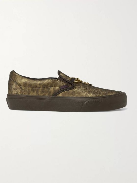 Vans + Needles Classic VLT LX Animal-Print Faux Leather Slip-On Sneakers