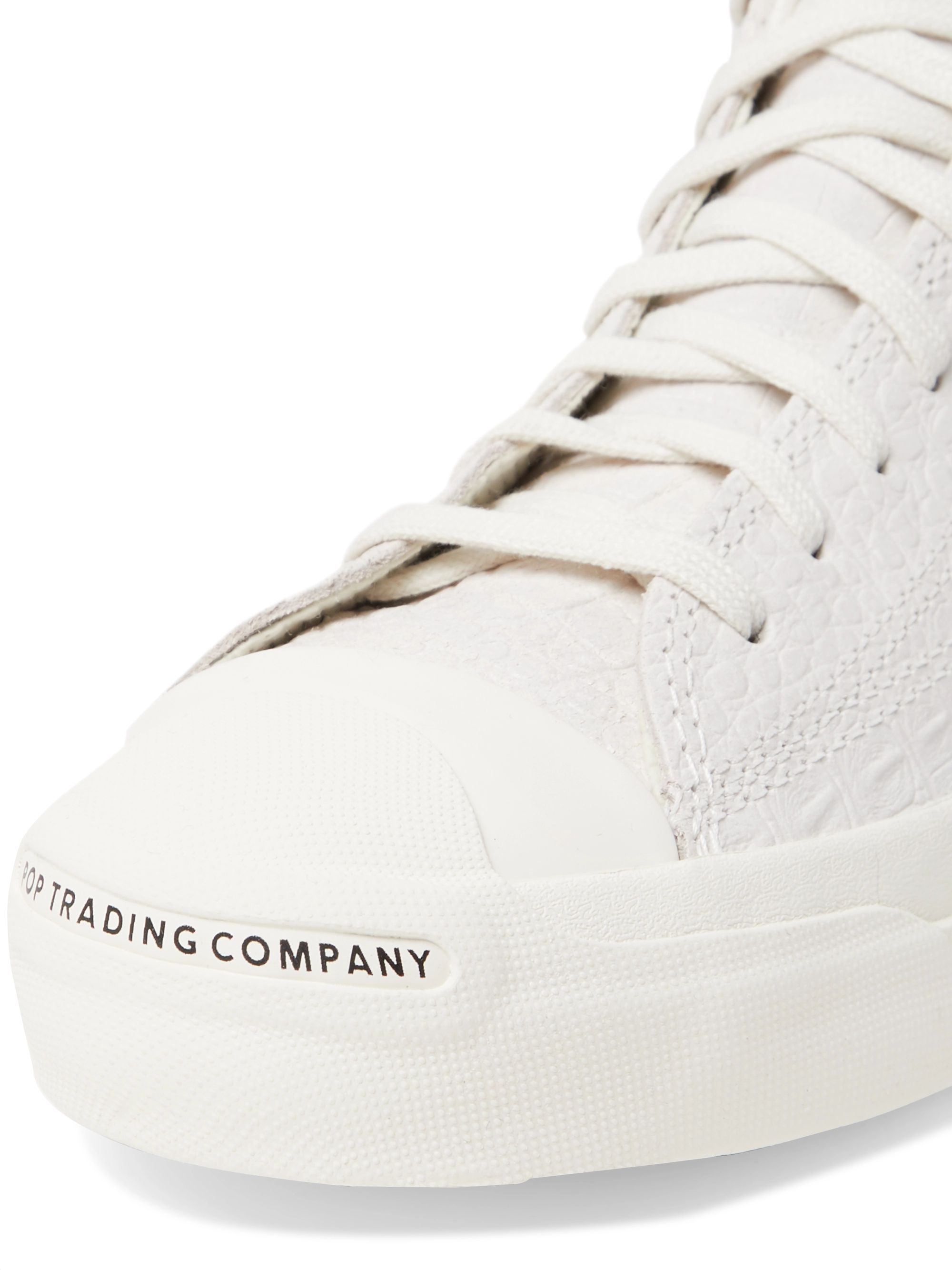 CONVERSE + Pop Trading Company Jack Purcell Embossed Leather High-Top Sneakers