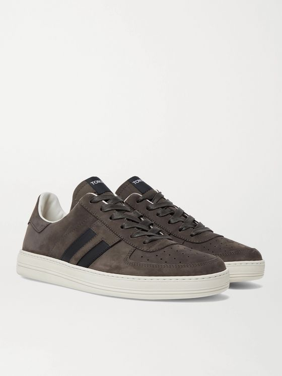 TOM FORD Radcliffe Leather-Trimmed Nubuck Sneakers