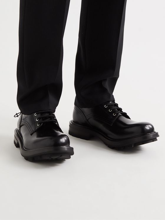 ALEXANDER MCQUEEN Spazzolato Leather Derby Shoes