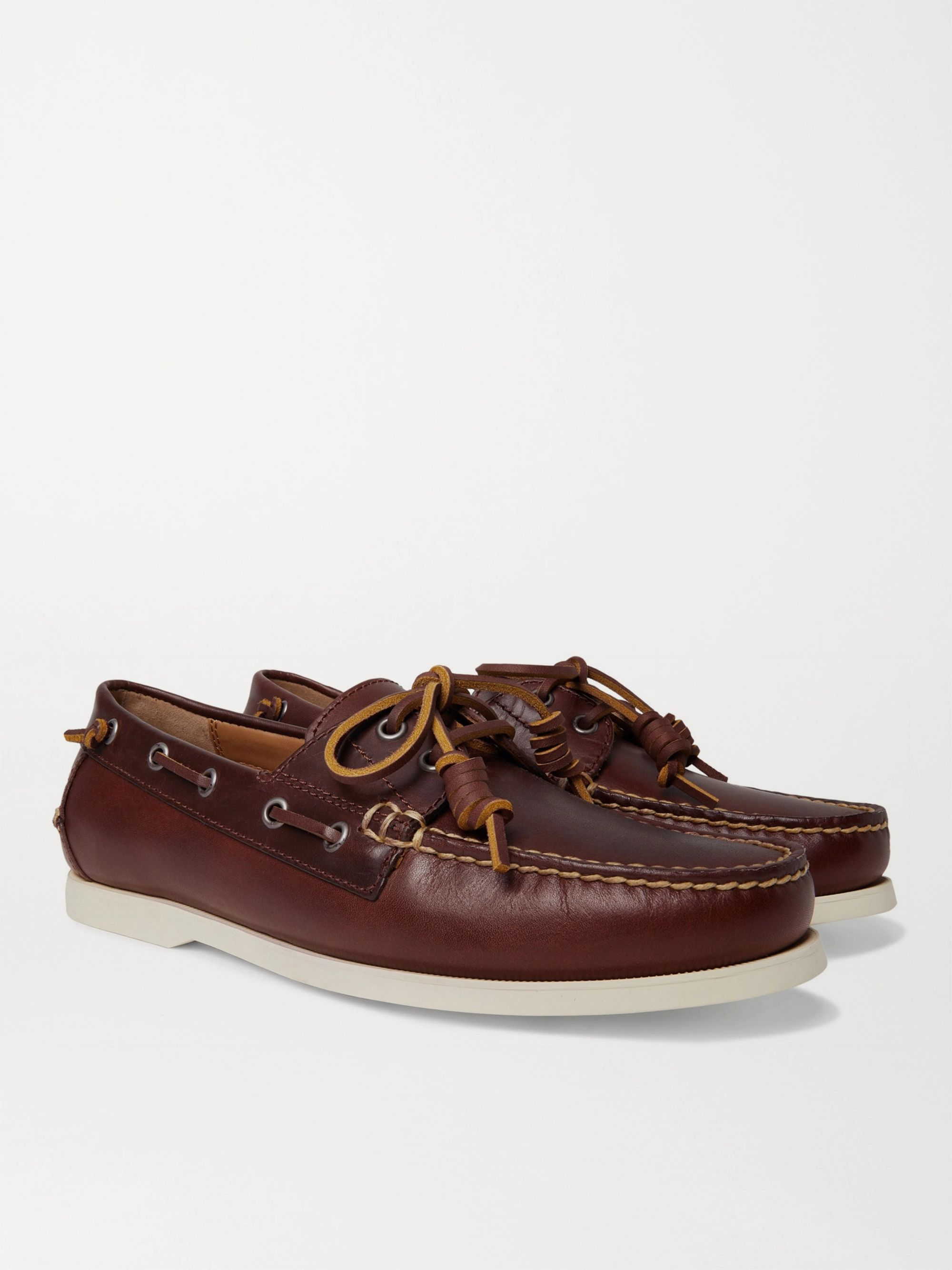 POLO RALPH LAUREN Merton Leather Boat Shoes