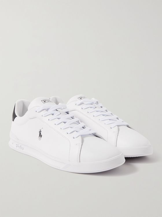 POLO RALPH LAUREN Heritage Court Logo-Print Leather Sneakers