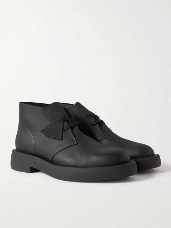 CLARKS ORIGINALS Mileno Matte-Leather Desert Boots