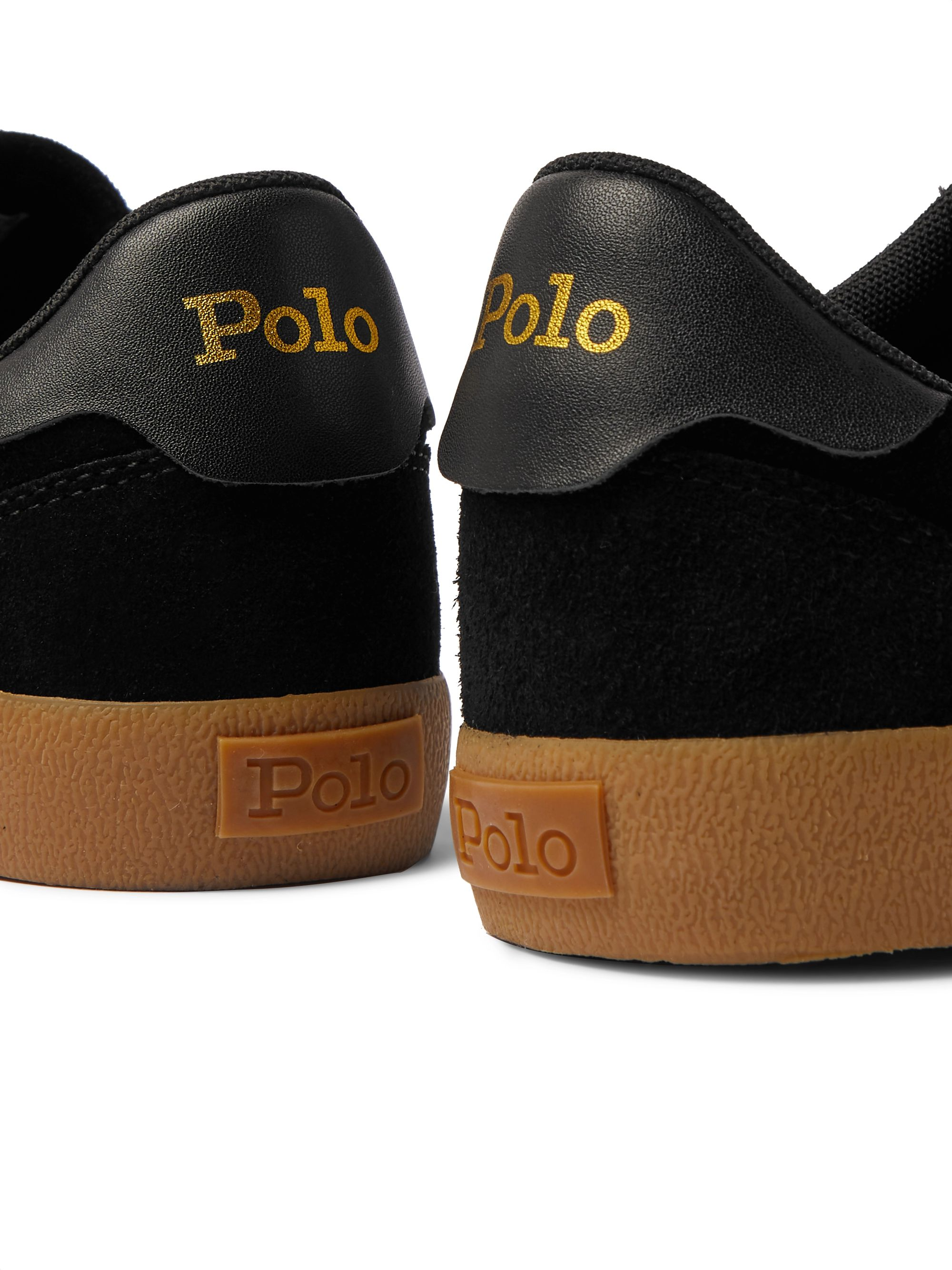 POLO RALPH LAUREN Court Striped Suede Sneakers