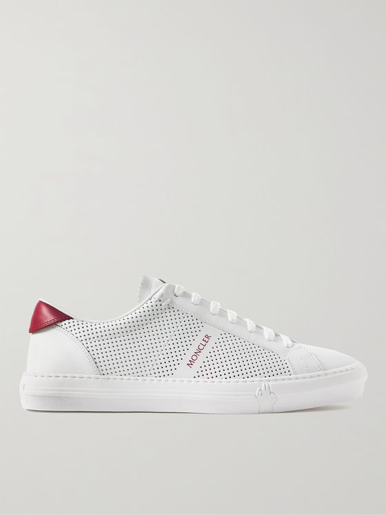 MONCLER New Monaco Perforated Leather Sneakers