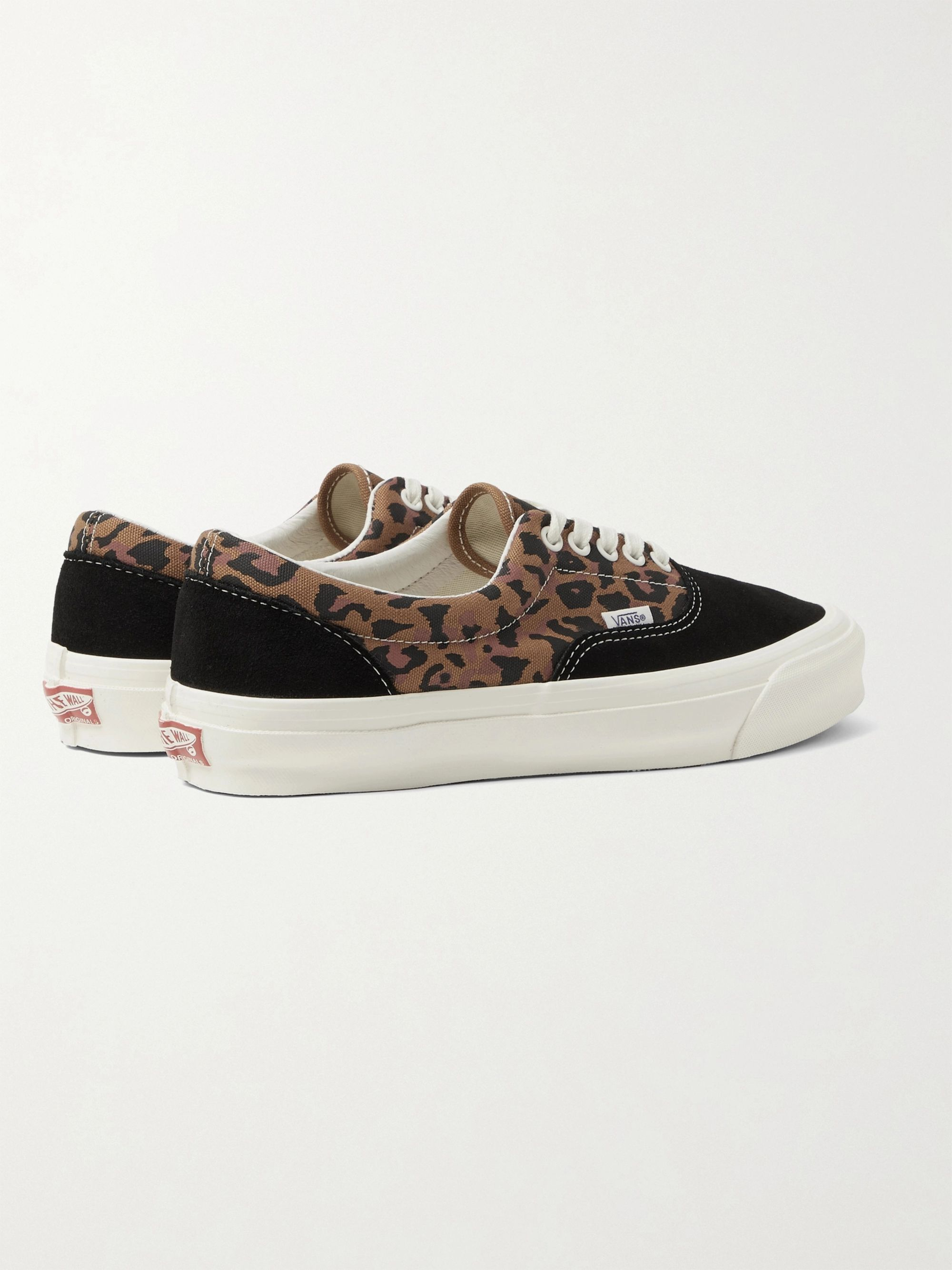 Vans UA OG Era LX Printed Canvas and Suede Sneakers