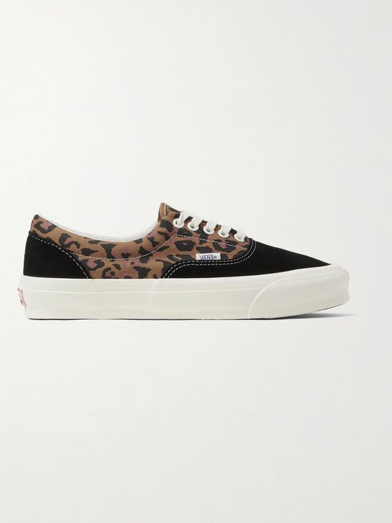 Vans UA OG Era LX Leopard-Print Canvas and Suede Sneakers