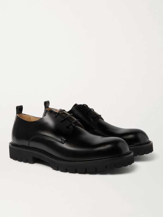 PAUL SMITH Brunel Polished-Leather Derby Shoes