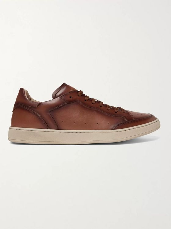 OFFICINE CREATIVE Kareem Lux Perforated Leather Sneakers