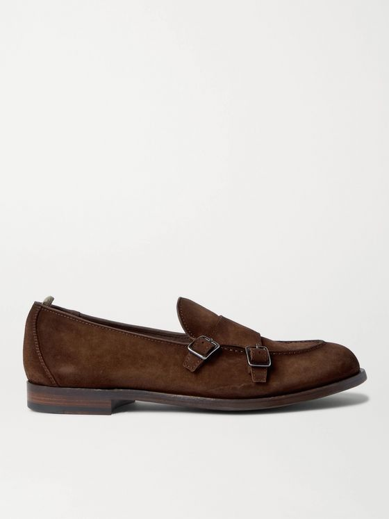 OFFICINE CREATIVE Ivy Suede Monk-Strap Shoes