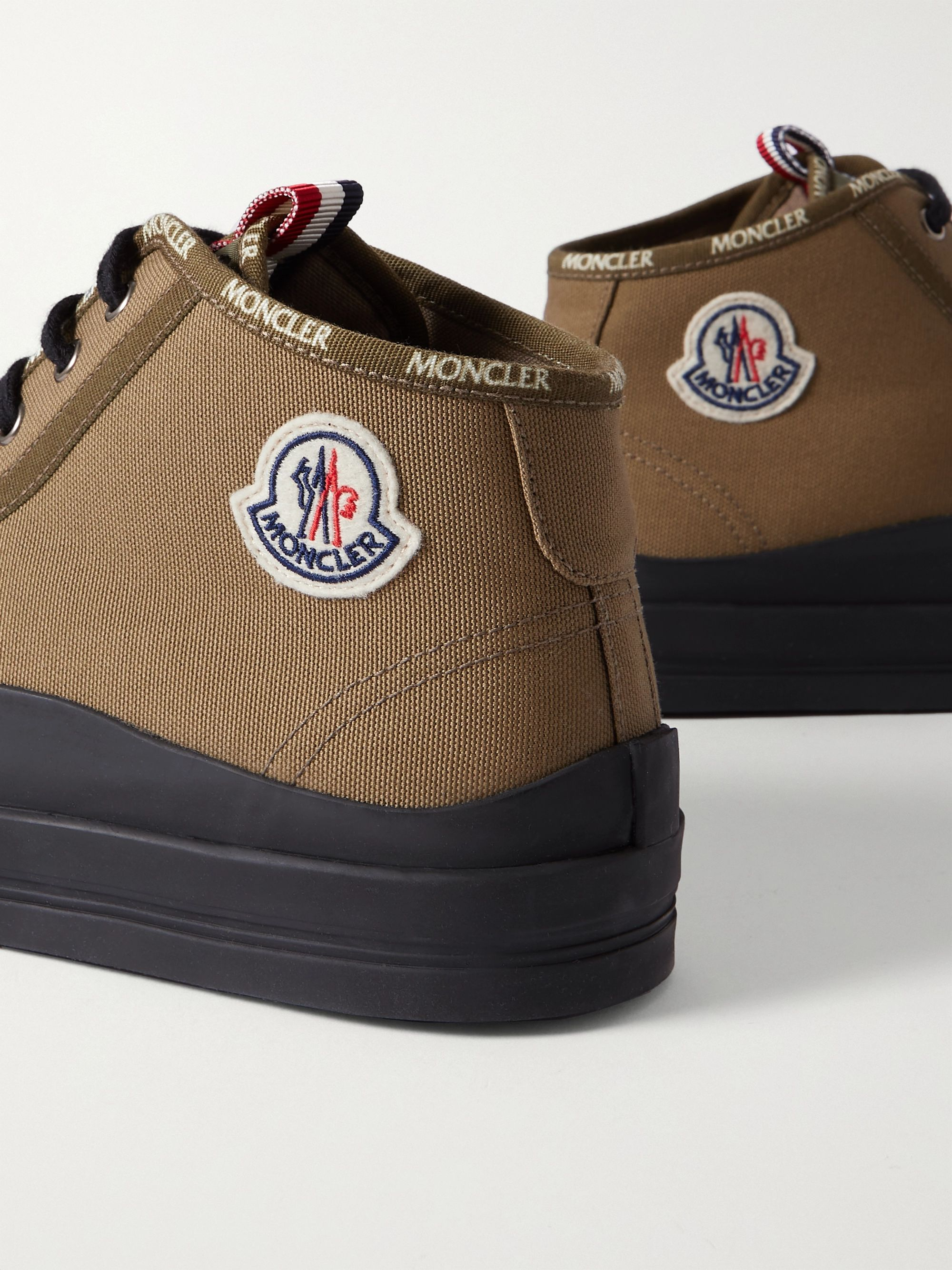 MONCLER Lissex Logo-Appliquéd Cotton-Canvas High-Top Sneakers