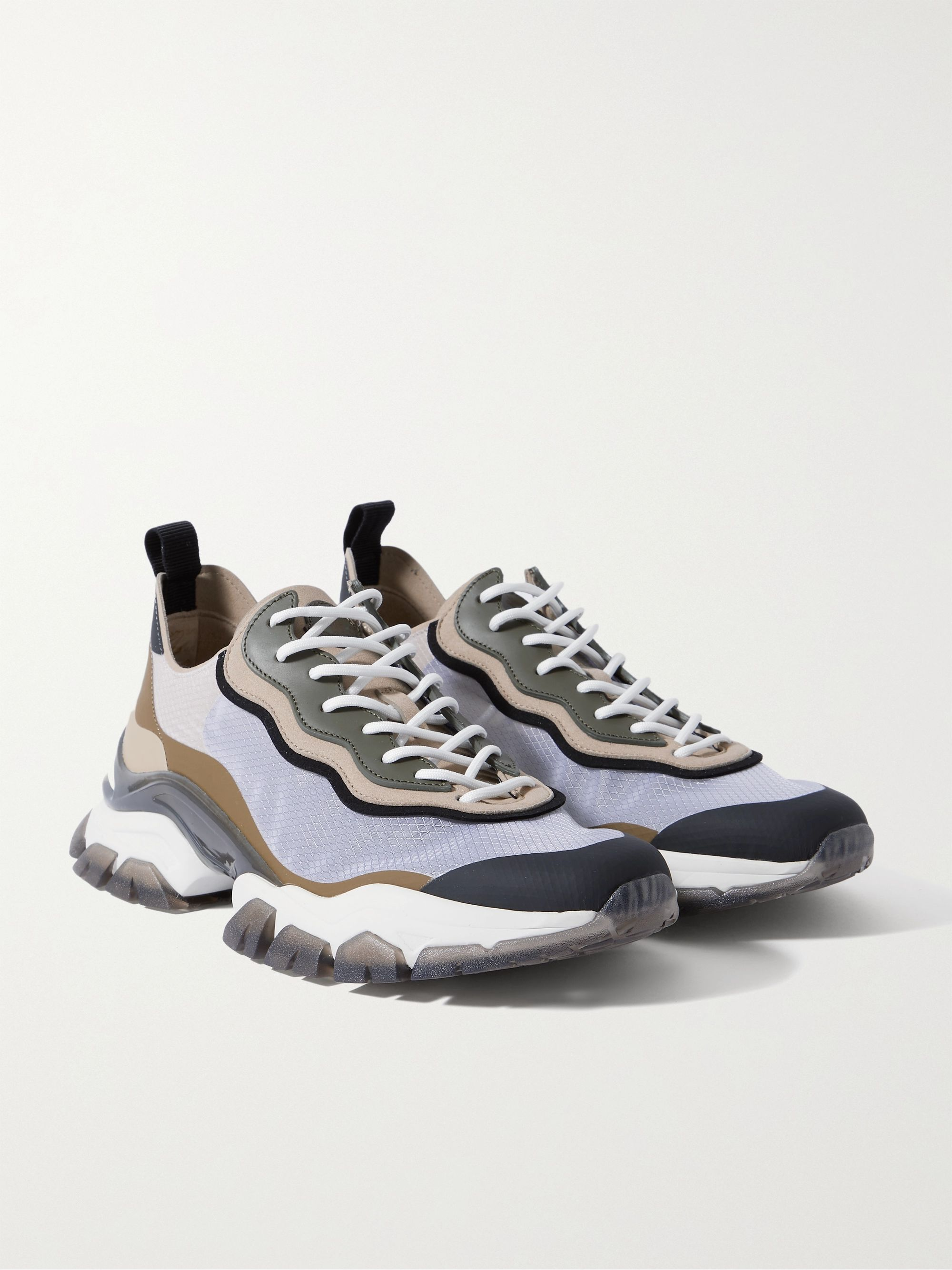 MONCLER Leave No Trace Leather, Suede and Ripstop Sneakers