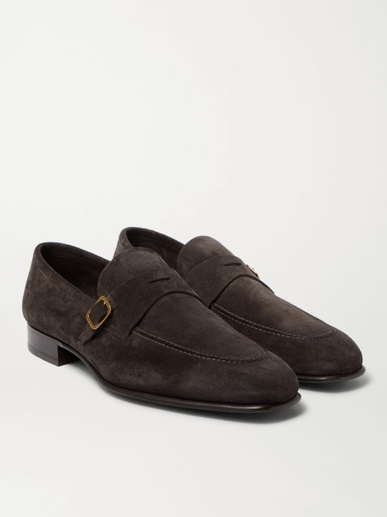 TOM FORD Dover Suede Loafers