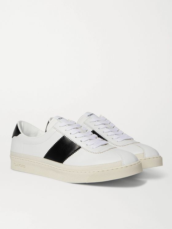 TOM FORD Bannister Panelled Faux Leather Sneakers