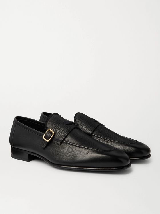 TOM FORD Dover Full-Grain Leather Loafers