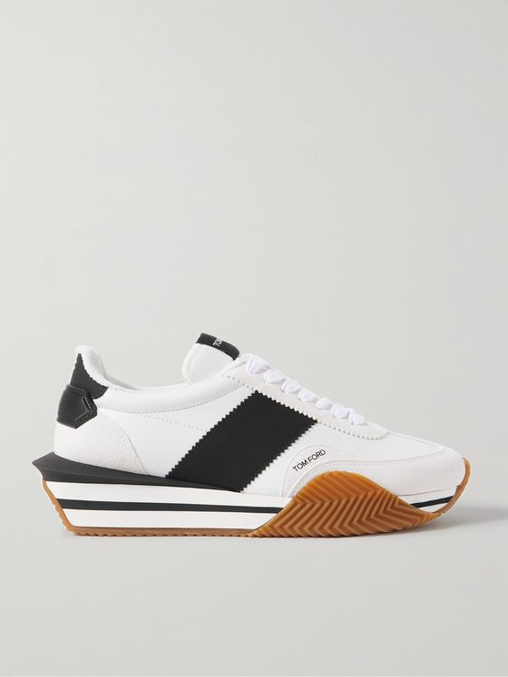 TOM FORD James Leather, Suede and Rubber Sneakers