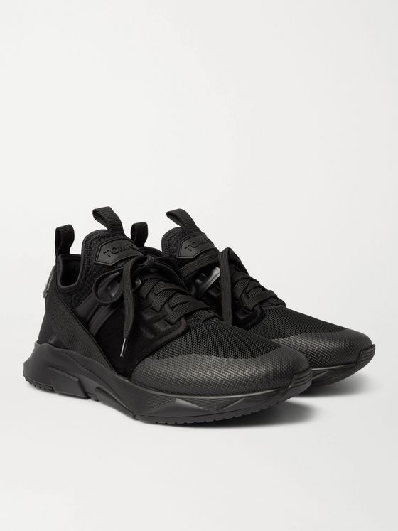 TOM FORD Jago Neoprene, Mesh and Nylon Sneakers