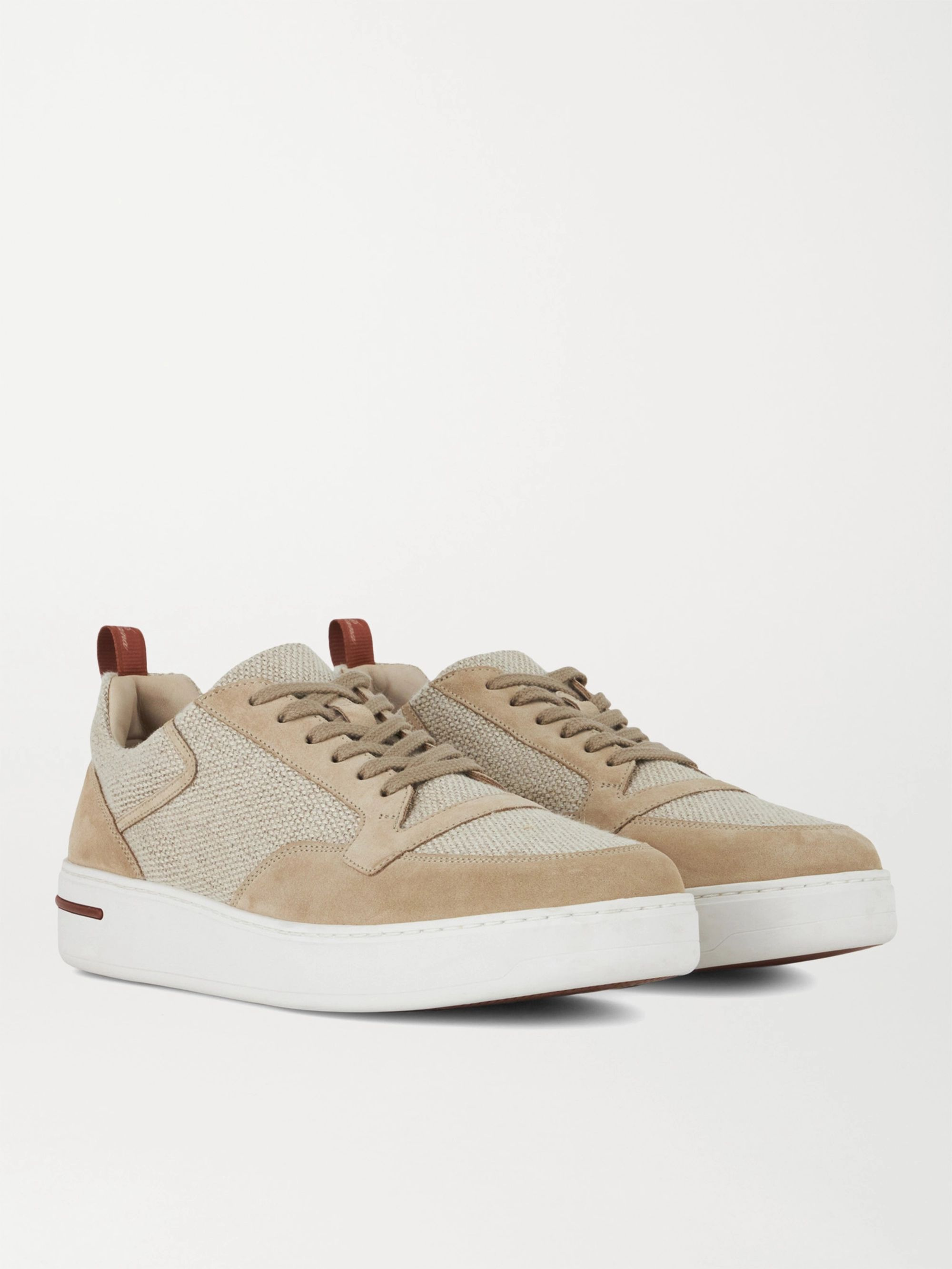 LORO PIANA Newport Walk Nubuck and Cashmere Sneakers