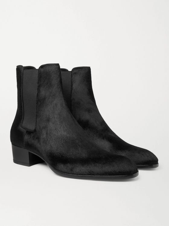 SAINT LAURENT Wyatt Calf Hair Chelsea Boots
