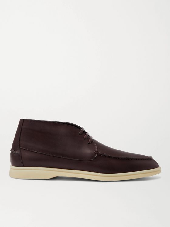 LORO PIANA Sailing Walk Leather Desert Boots