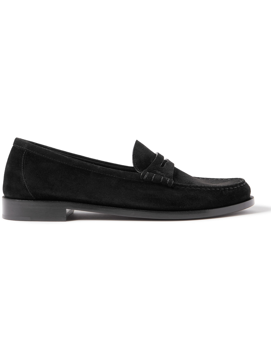 Saint Laurent Suedes SUEDE PENNY LOAFERS