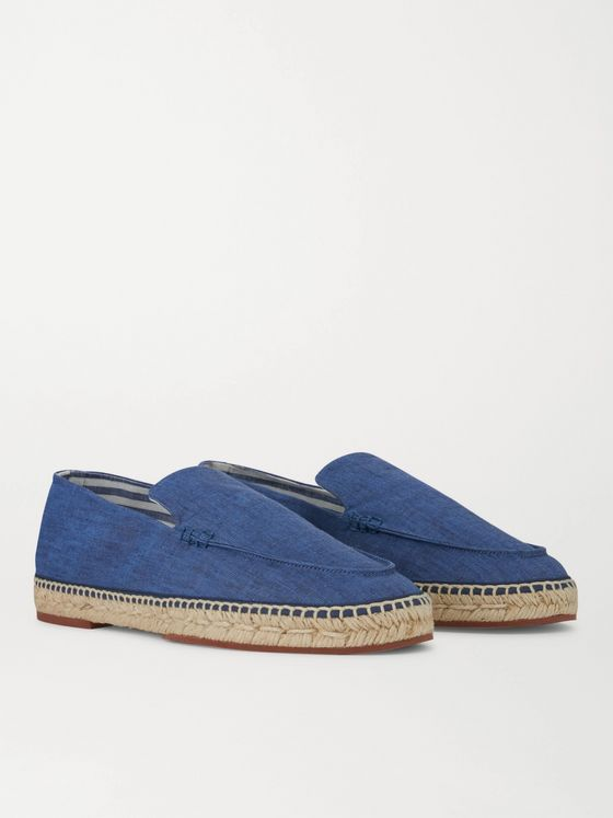 LORO PIANA Seaside Walk Linen Espadrilles