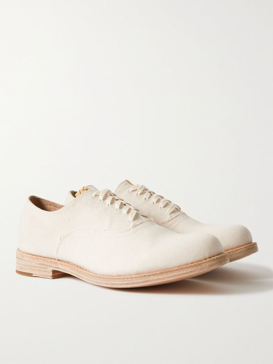 VISVIM Calloway-Folk Canvas Derby Shoes
