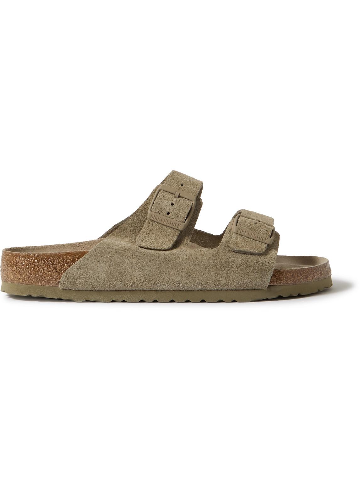 Birkenstock Arizona Suede Sandals In Neutrals