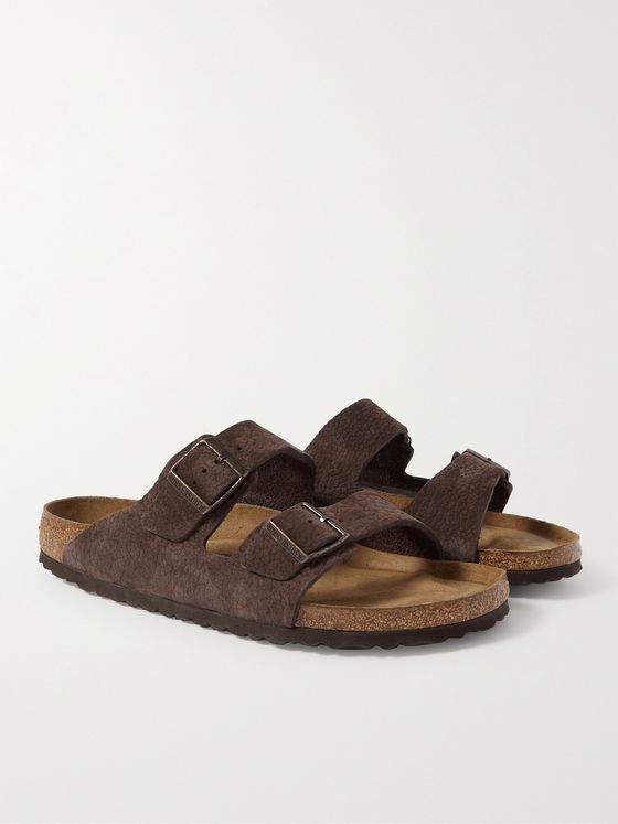 BIRKENSTOCK Arizona Textured-Suede Sandals
