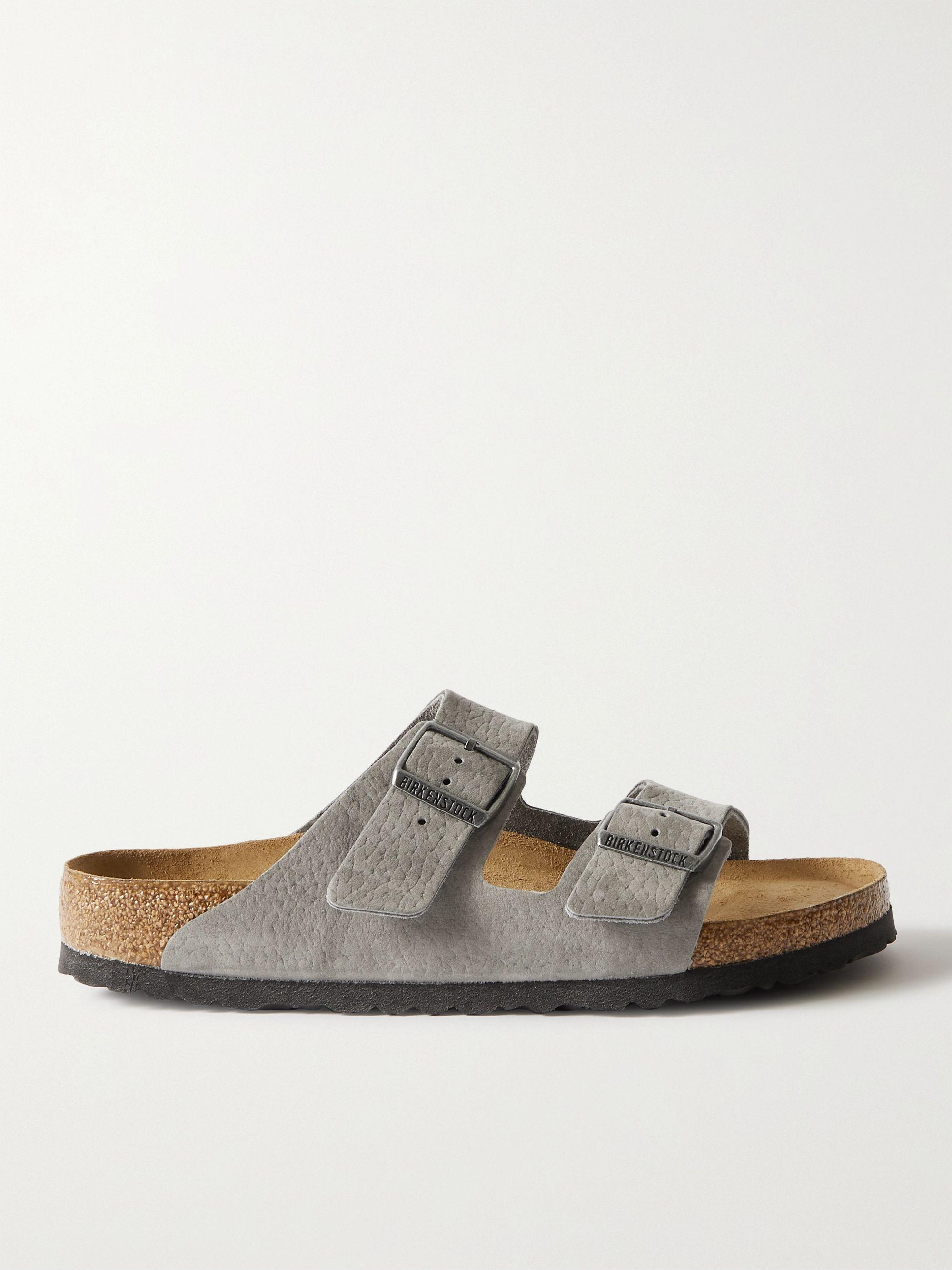 Birkenstock Arizona Nubuck Sandals,Gray