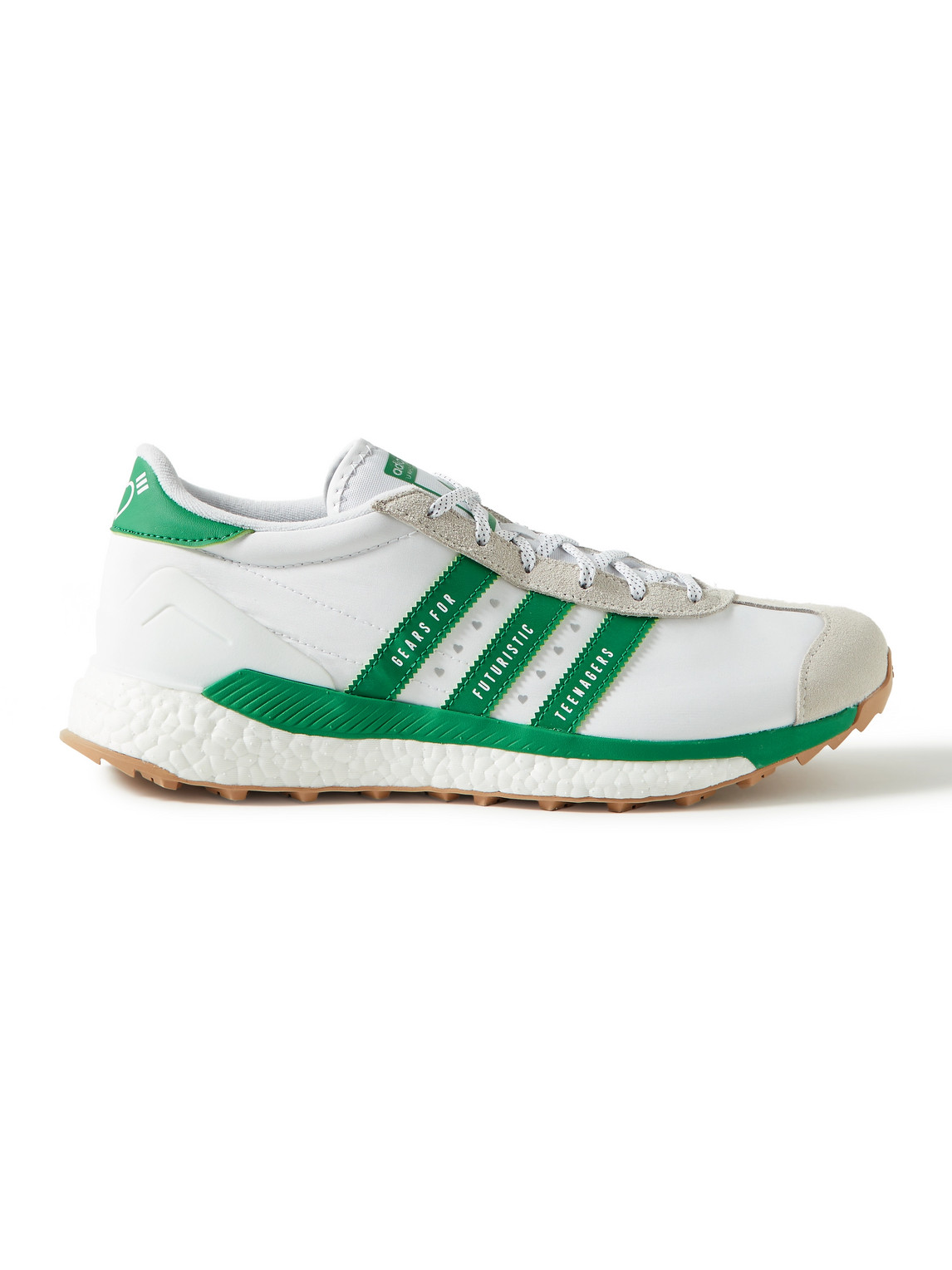 adidas consortium - human made country free hiker suede and leather-trimmed shell sneakers - men - white - uk 5.5