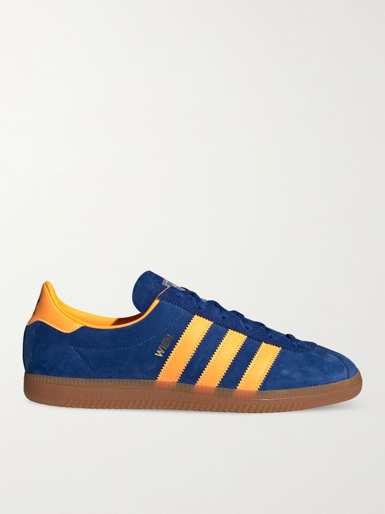 ADIDAS ORIGINALS Wien Leather-Trimmed Suede Sneakers