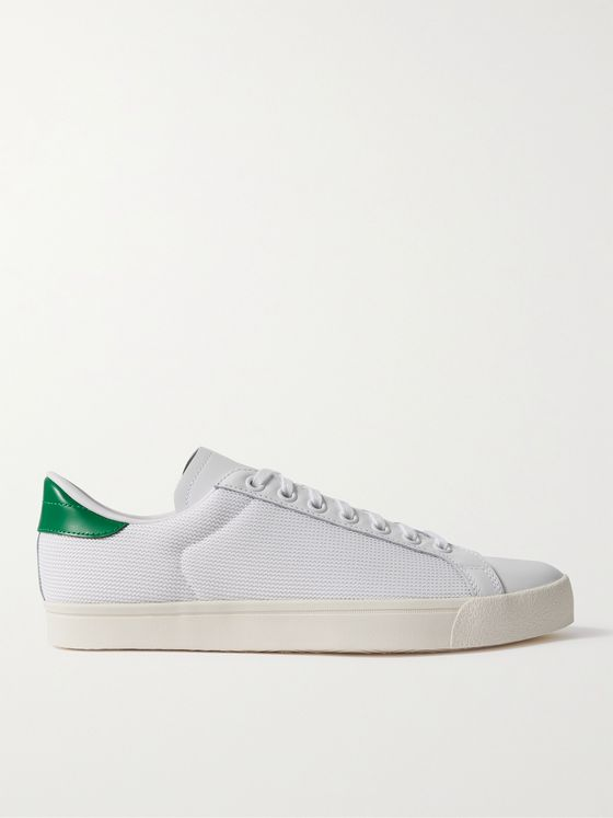 ADIDAS ORIGINALS Rod Laver Mesh and Leather Sneakers