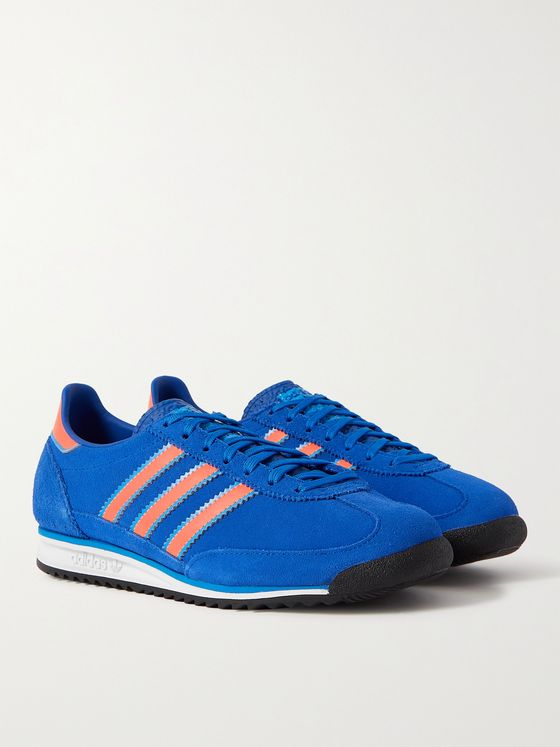 ADIDAS ORIGINALS SL 72 Leather-Trimmed Suede Sneakers