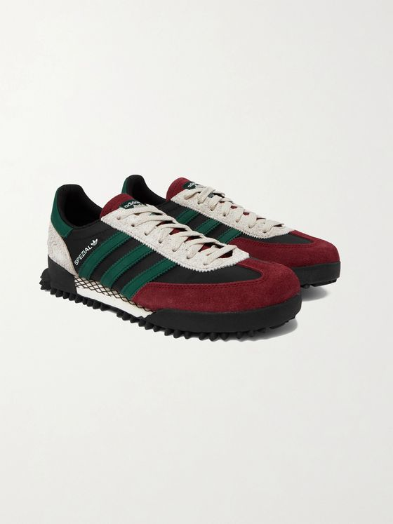 ADIDAS ORIGINALS Handball SPEZIAL Trail Leather-Trimmed Suede and Canvas Sneakers