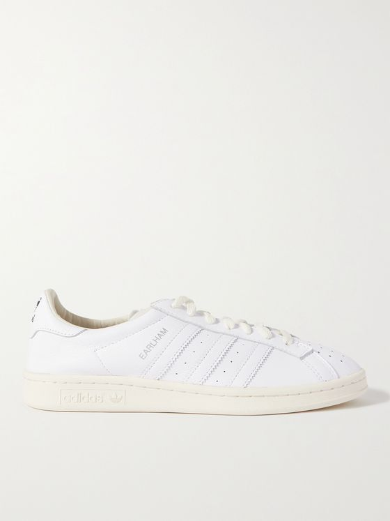 ADIDAS ORIGINALS Earlham Perforated Leather Sneakers