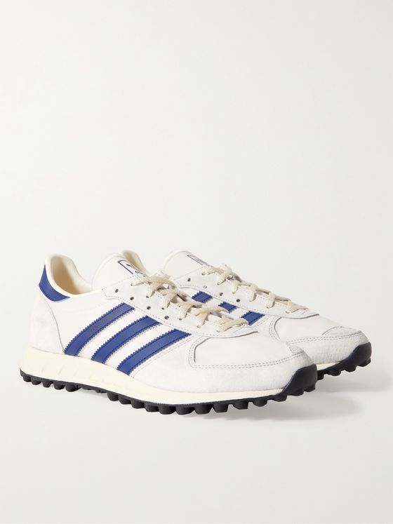 ADIDAS ORIGINALS TRX Vintage Leather-Trimmed Nylon and Suede Sneakers