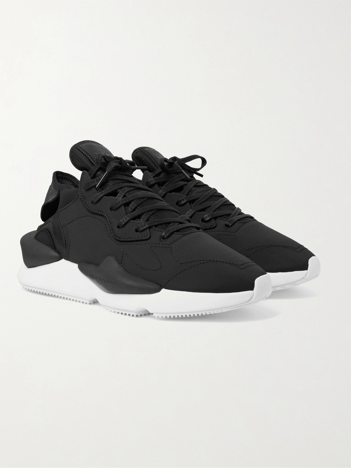 Y-3 KAIWA LEATHER-TRIMMED NYLON-RIPSTOP AND NEOPRENE SNEAKERS