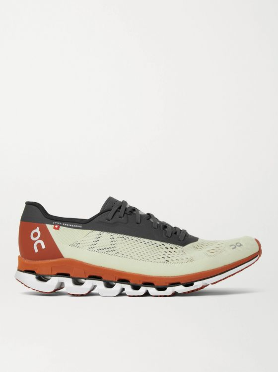 ON Cloudboom Rubber-Trimmed Mesh Running Sneakers
