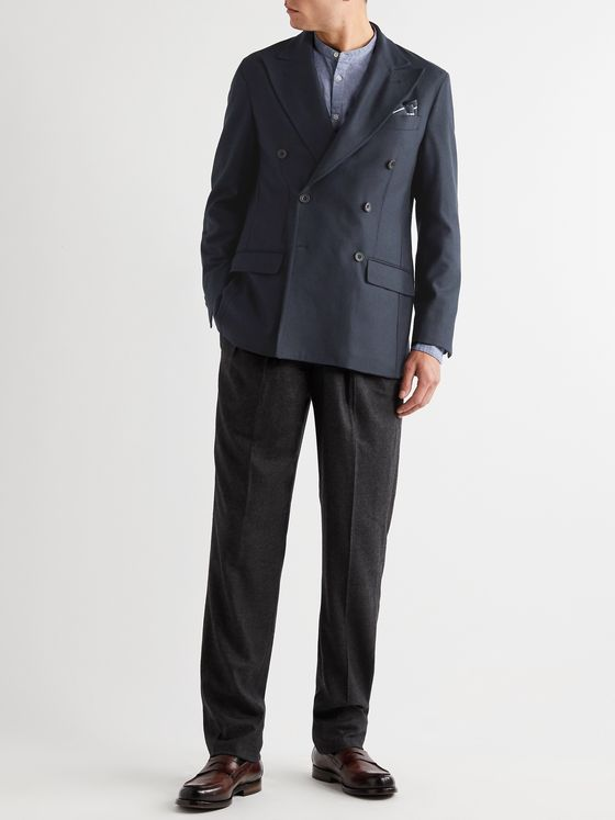 RUBINACCI Double-Breasted Cashmere Blazer