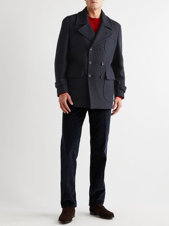 RUBINACCI Virgin Wool-Blend Peacoat