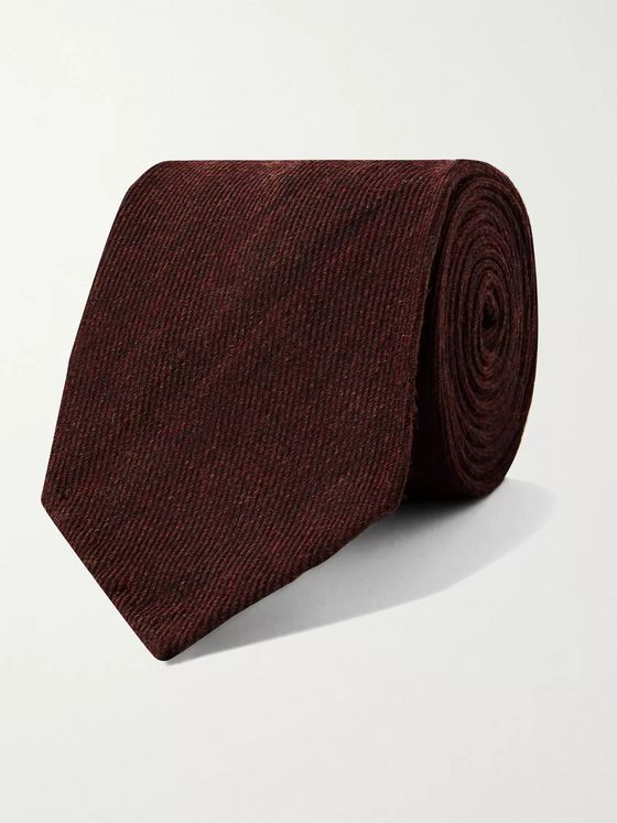 RUBINACCI 8cm Mélange Wool and Silk-Blend Tie