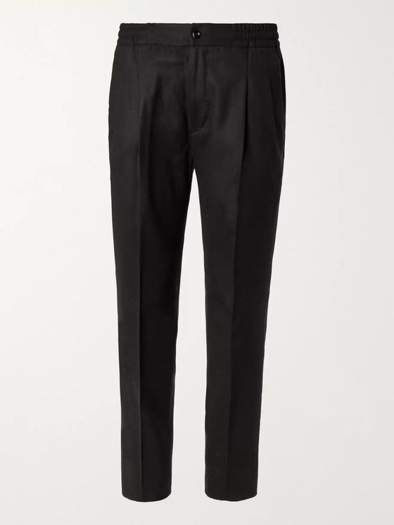 Rubinacci Tapered Virgin Wool-Flannel Trousers