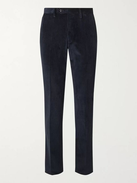 Rubinacci Luka Slim-Fit Cotton-Blend Corduroy Trousers